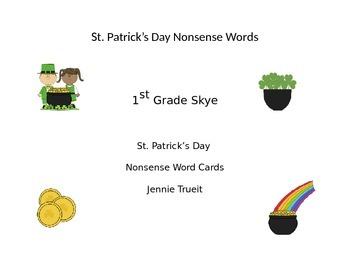 St. Patrick's Day Nonsense Words