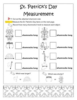 St. Patrick's Day Nonstandard Measurement