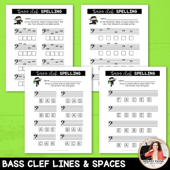 St. Patrick's Day Note Ninjas Treble & Bass Clef Worksheets Pack