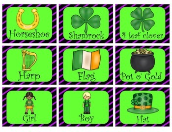 St. Patrick's Day Noun, Verb and Adjective Sort