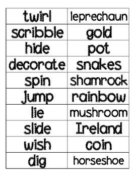 St. Patrick's Day Noun and Verb Sort FREEBIE