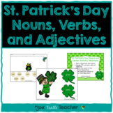 St. Patrick's Day Nouns, Adjectives, and Verbs - Center Activity & Worksheet