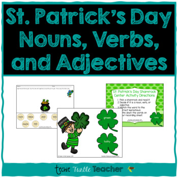 St. Patrick's Day Nouns, Adjectives, and Verbs - Center Ac