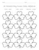 St. Patrick's Day Nouns, Verbs, Adjectives Worksheet