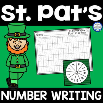 St. Patrick's Day Number Writing Game {FREE}