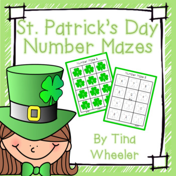 St. Patrick's Day Number Mazes ~ Math Games ~ Math Centers