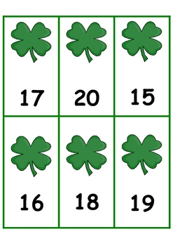 St. Patrick's Day Number Order 1-100