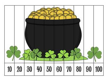 St. Patrick's Day Number Order Puzzles {FREEBIE}