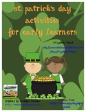 St. Patrick's Day Number Puzzles, Syllables Games, Word Building and More!