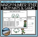St. Patricks Day Number Sense Activities and Dice Games