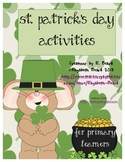 St. Patrick's Day Number Sense, Alphabet Match, and Missing Numbers Pack