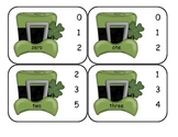 St. Patrick's Day Number Word Clip Cards