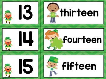 St. Patrick's Day Number Word FREEBIE