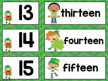 St. Patrick's Day Free Math Center