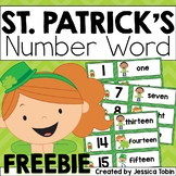 St. Patrick's Day Number Word FREEBIE
