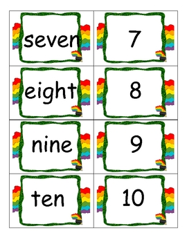 St. Patrick's Day Number Word Match (0-10)