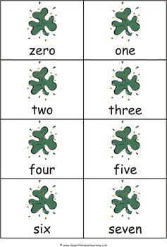 St. Patrick's Day Numbers Matching Game & Flashcards: 0-50