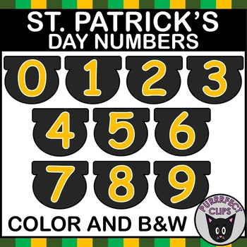 St Patricks Day Clipart Numbers Commercial Use OK!