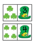 St. Patrick's Day Numeral to Set Matching 1-10