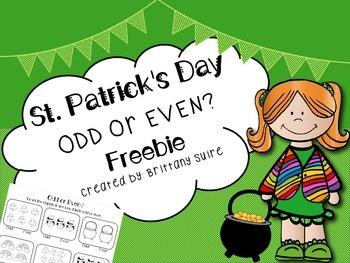 **St. Patrick's Day ODD or EVEN Printable**