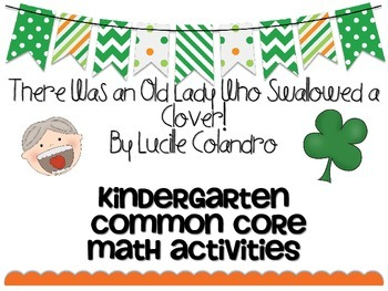 March St. Patrick's Day Old Lady Clover Common Core Math Activities