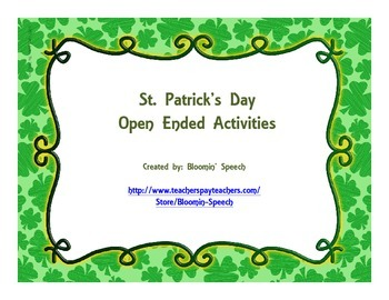 St. Patrick's Day Open Ended Activities