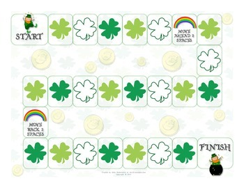 St. Patrick's Day Open-Ended Board Game {FREE}
