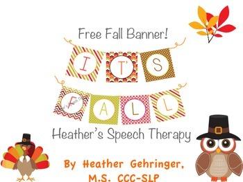 "Free Fall Banner! ""It's Fall!"""