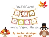 "Free Fall Banner! ""It's Fall!"""