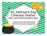 St. Patrick's Day Open and Closed Syllable Sort
