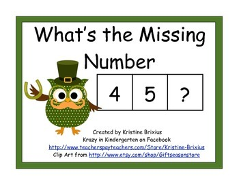 St Patricks Day Owl Missing Numbers