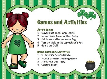St Patrick's Day PE and Classroom Party Games