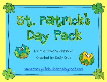 St. Patrick's Day Pack for the Primary Classroom