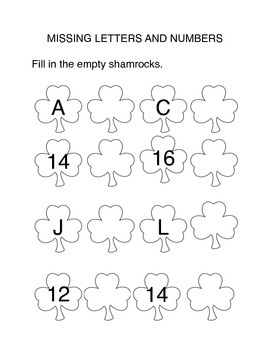 St. Patrick's Day Packet for K-2