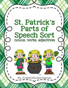 St. Patrick's Day Parts of Speech Sort