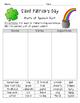 St. Patrick's Day Grammar {parts of speech & helping verbs}