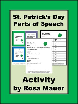 St. Patrick's Day Parts of Speech Task Cards