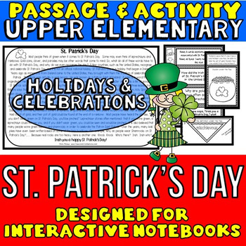 St. Patrick's Day: Reading Passage and Questions: Interactive Notebook