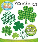 St. Patrick's Day Pattern Shamrocks Clipart {Zip-A-Dee-Doo-Dah Designs}