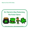 St. Patrick's Day Patterning File Folder Game