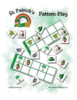 St. Patrick's Day Patterning Play Game - Holiday Fun ~ Early Reading Center