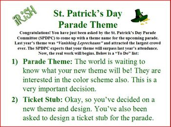 St. Patrick's Day Persuasive Writing Activity
