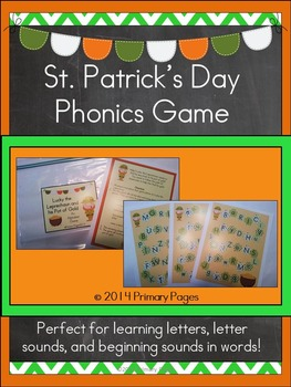 St. Patrick's Day Phonics Game- An Alphabet Literacy Center