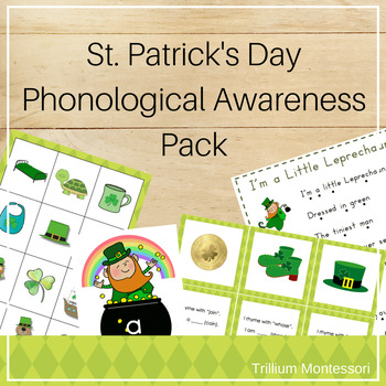 St. Patrick's Day Phonological Awareness Activities for March