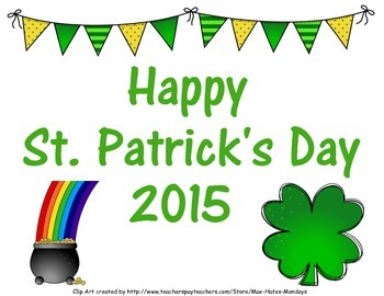 Freebie-St. Patrick's Day 2015 Photo Prop Sign