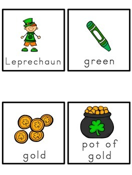 St. Patrick's Day Picture Word Bank and Picture Cards