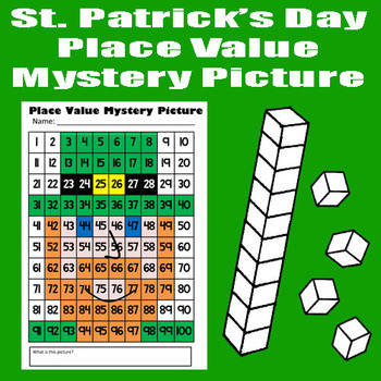 St. Patrick's Day Leprechaun Place Value Math Mystery Pict