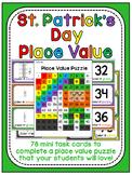 St. Patrick's Day Math Center Place Value 100 Chart Puzzle