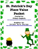 St. Patrick's Day Place Value Math Centers