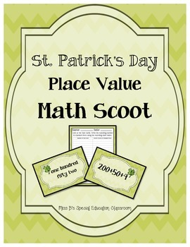 St. Patrick's Day Place Value Math Scoot